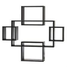 Threshold Large 5-Piece Interlocking Shelf Set Black Hanging Floating Wall Shelf