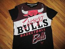 Womens CHICAGO BULLS T SHIRT by UNK Basketball NBA Black Adult Ladies XL
