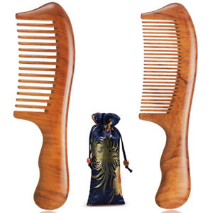 Premium Hair Comb Wooden Combs Natural Dalbergia Wood Handcrafted Smooth Sturdy