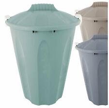 Wäschetonne Abfalleimer Mülltonne Universaltonne mit Deckel 40 Liter 3 Stück