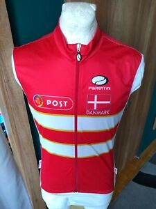 PARENTINI POST TEAM DENMARK VEST CYCLING SHIRT VINTAGE MAGLIA JERSEY RARE