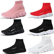 Men High Top Casual Socks Shoes Breathable Jogging Running Athletic Sneakers Gym