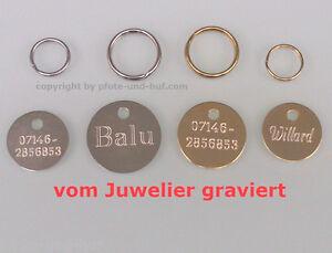 HUNDEMARKEN inkl. Gravur in Juwelierqualität Hundemarke