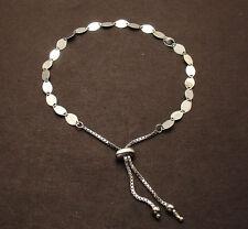 Adjustable Gucci Mariner Link Bracelet REAL Solid 14K White Gold For ALL WRISTS!