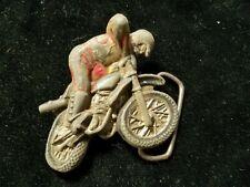 "Vintage Metal Motocross Racing Belt Buckle 2-3/4"" X 3"""