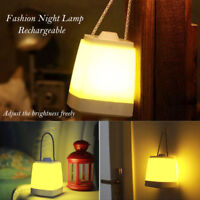 Dimmable LED Lampe de nuit Rechargeable Portable Veilleuse Camping Lantern Torch