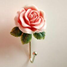 Vintage Rose Resin Hook Wall Mounted Hat Coat Door Clothes Hanger Bathroom Towel