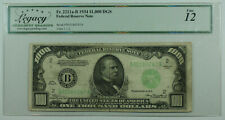 1934 $1000 One Thousand Dollar Bill DGS FRN Fr. 2211a-B Legacy Fine 12