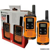 Motorola Tklr T41 2 Salidas Walkie Set de Regalo Pmr 446 Kit Radio - Naranja