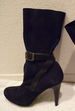 Longchamp 'Million' Boot- Black Suede- retail $710 (B59) SZ 38/7-NEW