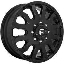 Set Of 6 20 Inch Fuel D675 Blitz Dually 8x170 Gloss Black Wheels Rims