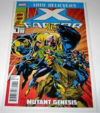 TRUE BELIEVERS : X-FACTOR Mutant Genesis # 1 Marvel Comic   NM  Reprints # 71