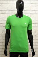 Maglia ADIDAS Uomo Taglia Size XS Maglietta Shirt Man Manica Corta Sport Verde