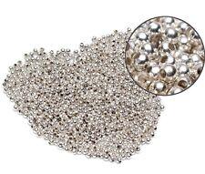 3000 Versilbert glatt rund Spacer Perlen Beads 3mm D.