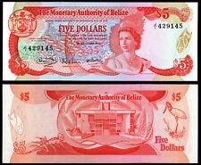 BELIZE 5 DOLLARS (P39a) 1980 QEII UNC