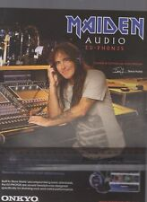 (-0-) RARE IRON MAIDEN ONKYO HEADPHONES MAGAZINE  A4 ADVERT (-0-)