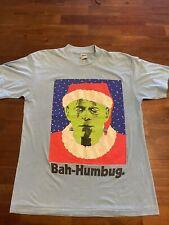 New listing Vintage Stanley Desantis Shirt 1987 Frankenstein Bah Humbug Horror Movie Promo L