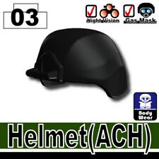 Black ACH Tactical Helmet for LEGO army military brick minifigures