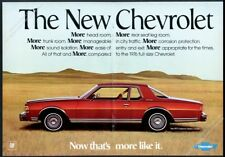 1977 Chevrolet Caprice Classic Coupe red car photo vintage print ad