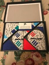 New listing Pierre Cardin Face Towel Set.2pc 100% cotton made by Uchino Japan multicolor new