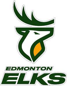 "Edmonton Elks CFL Football bumper sticker large decor vinyl decal 12""x 9.5"""
