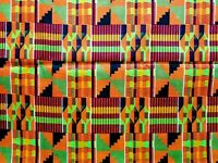 "African Kente Fabric Wax Dye Print 100% Cotton Cloth 45"" Wide By The Yard"
