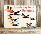Guinness Beer Lovely Day Metal Tin Sign Retro Vintage Style Garage Man Cave New