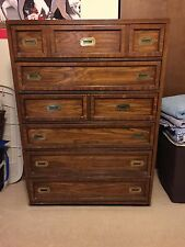Wooden dresser with six drawers