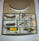 SIX NEW HELIN SWIMMERSPOON FISHING LURES & ORIGINAL DEALER BOX & ORIGINAL BOXES
