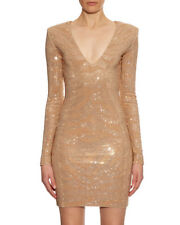BALMAIN TIGER EMBELLISHED MINI DRESS FR 36 UK 8
