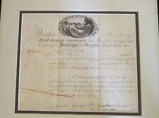 William Bingham Met Double Agent, Escorted Washington; Signs Stock Certificate