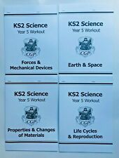 KS2 Science Year 5 Home Learning Workout Pack of 4 Workbooks Kids Age 9-10 years