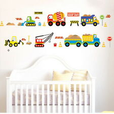 UK Transport Cars Childrens Diggers Tractors Wall Stickers Decals Nursery Room
