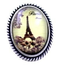 Anillo retro de la torre Eiffel de la resina del estilo de la vendimia