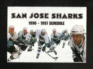 San Jose Sharks--1996-97 Pocket Schedule--Pepsi
