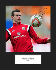 GARETH BALE #5 10x8 SIGNED Mounted Photo Print - FREE DELIVERY