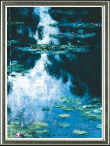 Claude Monet, Teich mit Seerosen - gerahmt
