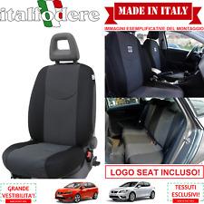 SET COPRISEDILI Adattabili SEAT IBIZA/LEON/ALTEA Fodera Fodere Foderine Nero 38
