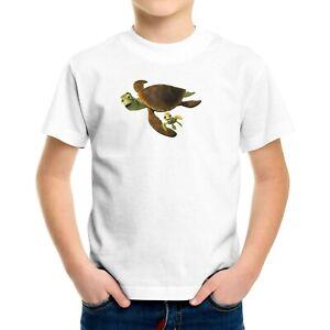 Kids Tee Youth T-Shirt Graphic Printed Gift Boy Girl Shirt Ocean Sea turtle Nemo