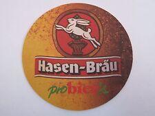 Beer Coaster ~ Brauerei Hasen Bräu ProBier's ~ Augsburg, Bavaria, Germany RABBIT