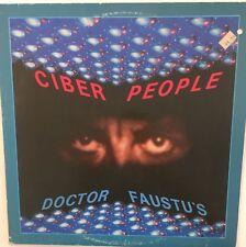 "CIBER PEOPLE Doctor Faustu's 12"" Single VG+ Vinyl Electronic Italo Disco Cyber"