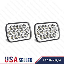 "2X 45W 7x6'' 5X7"" LED Projector Headlight Hi-Lo Beam Sealed For Jeep Cherokee XJ"