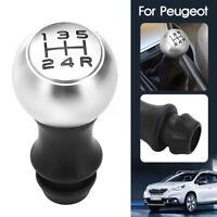 5 Pommeau Levier de Vitesse Chrome pour Peugeot 106 206 207 307 308 406 407