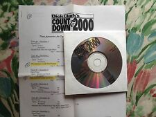 Radio Show: DICK CLARK COUNTDOWN TO 2000 11/15/99 7 FEATURES w/INTERVIEWS/SPOTS