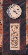 Sunflower Seed TIME Cross Stitch Chart ~ alphabet sampler