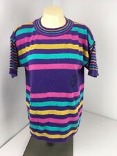 United colors of benetton womens M/L vintage striped sweater 80s 90s vtg LOUD