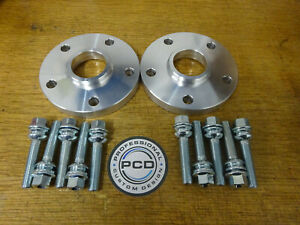 VW T5 T6 Pair of 5x120 65.1 Hubcentric Spacers 15mm 10 x19mm OEM Bolts FOR STEEL