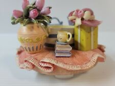 Vintage Home Interiors Jar Candle Topper Roses Purse Jewelry Hat Boots Gift