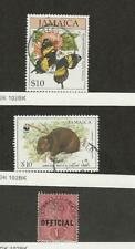 Jamaica, Postage Stamp, #812, 858, O3 Used, Buterfly, WWF