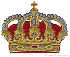 KING QUEEN CROWN iron-on PATCH new EMBROIDERED ROYAL FAMILY EMPEROR APPLIQUE new